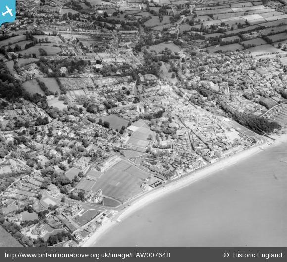 aerial 1947 Sidmouth town, Britain from Above archive