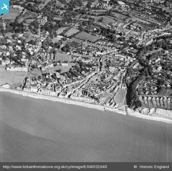 aerial 1950 Sidmouth, Britain from Above archive