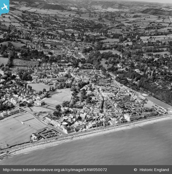 aerial 1953 from the west, Britain from Above archive