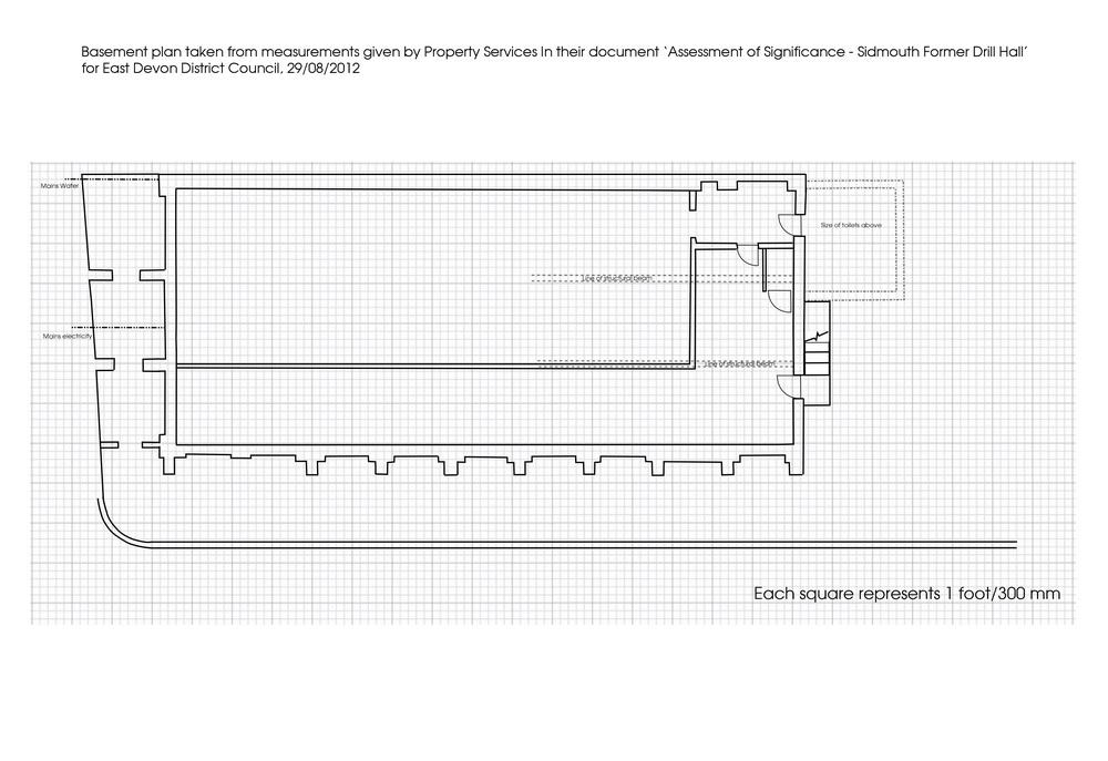 floor plan of basement level