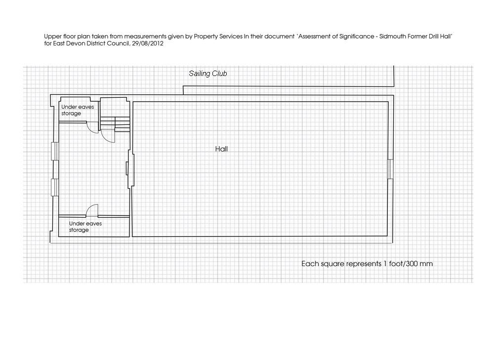floor plan of upper level